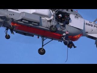 На Камчатке лётчиков морской авиации провели тренировку по спасению терпящих бедствие экипажей