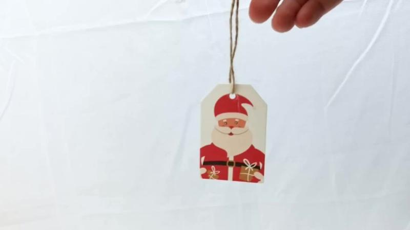 50 шт Счастливого Рождества бирки крафт бумаги карты
