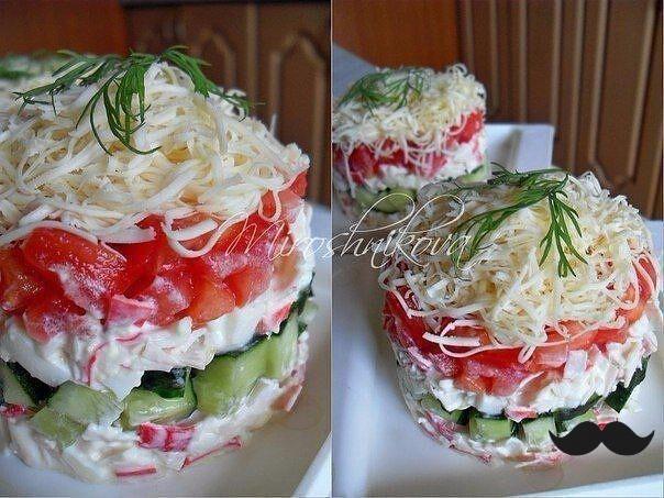 Подборка 10-ти салатов с помидорами.