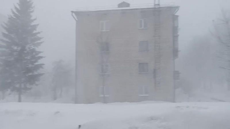 Метель 4 марта в Чебоксарах Очевидец слышал гром