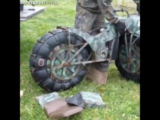 Переносной легкий проходимый мотоцикл