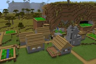 сид на много деревень в майнкрафт пэ 0.14.1 #4