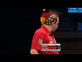 Peter Wright vs Mensur Suljovic (PDC German Darts Masters 2017 / Quarter Final)