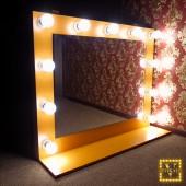 Зеркало с лампочками Шарлотт персик