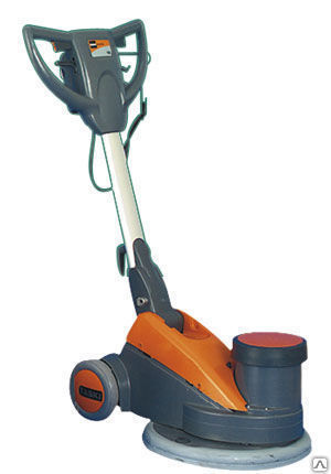 Низкоскоростная роторная машина Taski удобно складывается и оснащена дополнительными утяжелителями. Они применяются на твёрдом полу, при чистке ковролина их снимают.