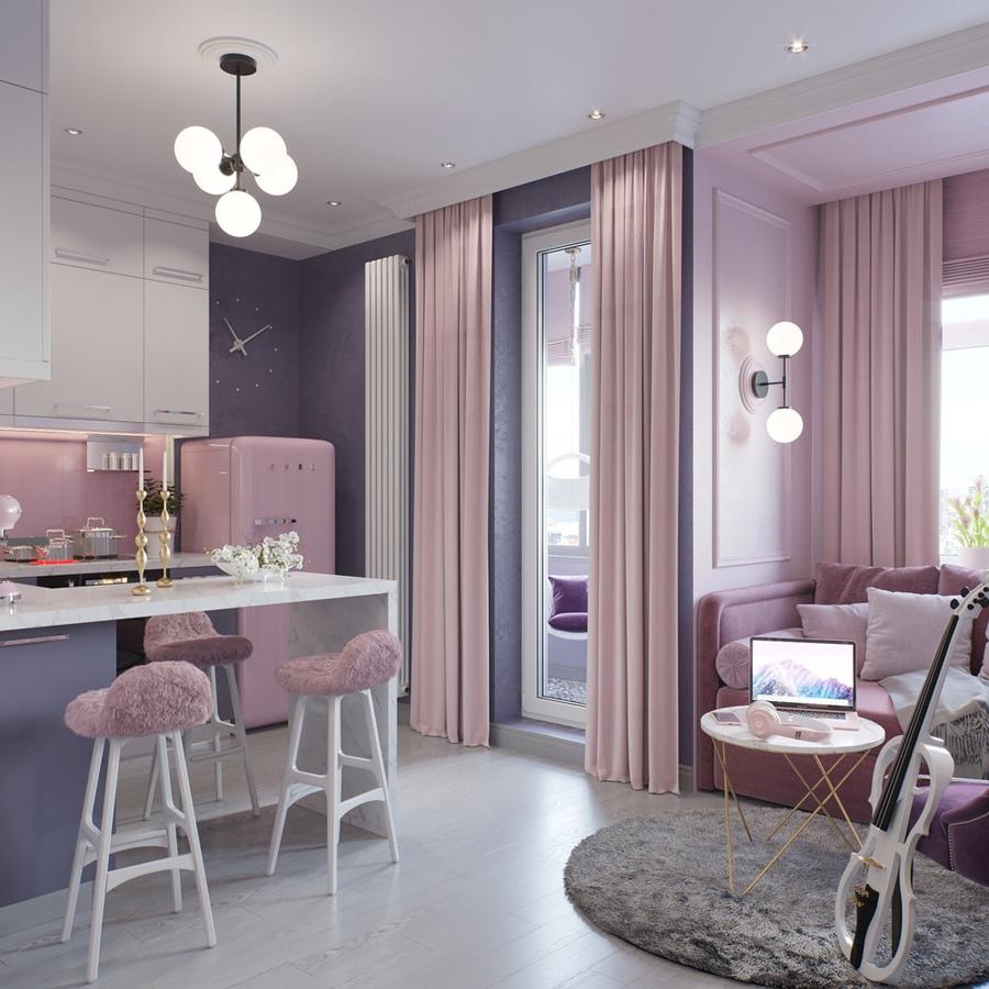 Проект квартиры 24 м (с лоджией – 26,6 м).