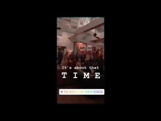 Инстаграм-история The Bungalow Santa Monica (видео с Кэндис Кинг)