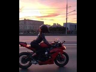 закаты. рассветы🥰 #мототаня девушка на мотоцикле