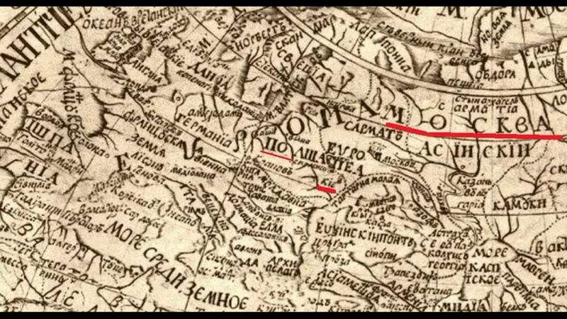 на карте 1707 года нет России