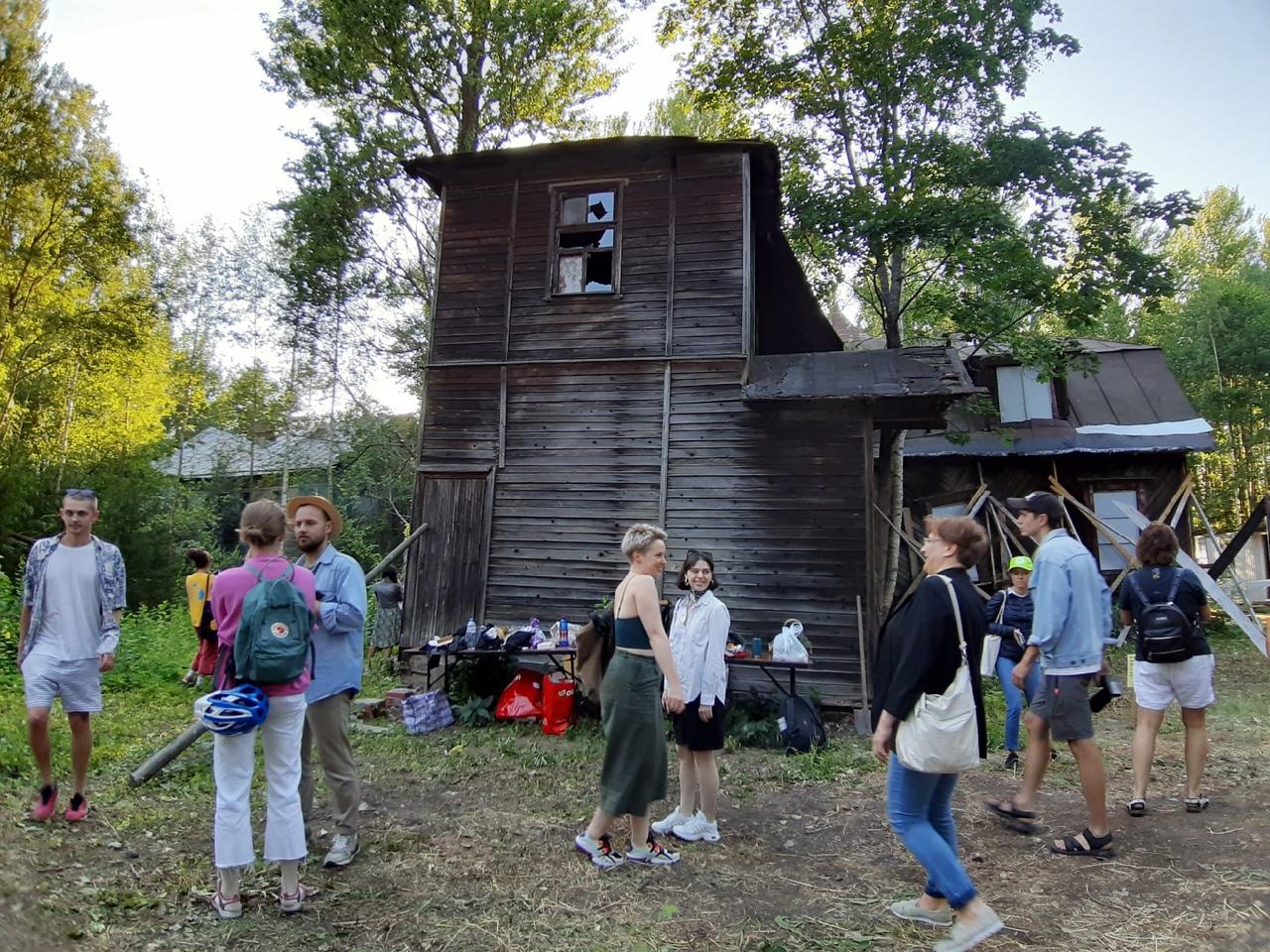 Открытие постоянного общественного огорода на даче Маяковского
