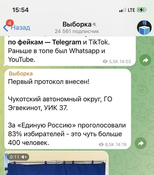 ⚡ В телеграм-каналах начали выходить посты с резул...