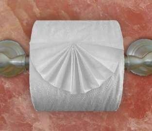 """Оригами """"Веер"""" из туалетной бумаги"""