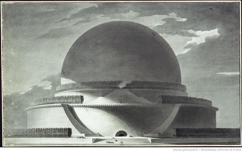 Загадка архитекторов Этьена Булле и Клода Леду идеи которому давали «сущности выходящие из тени», изображение №9