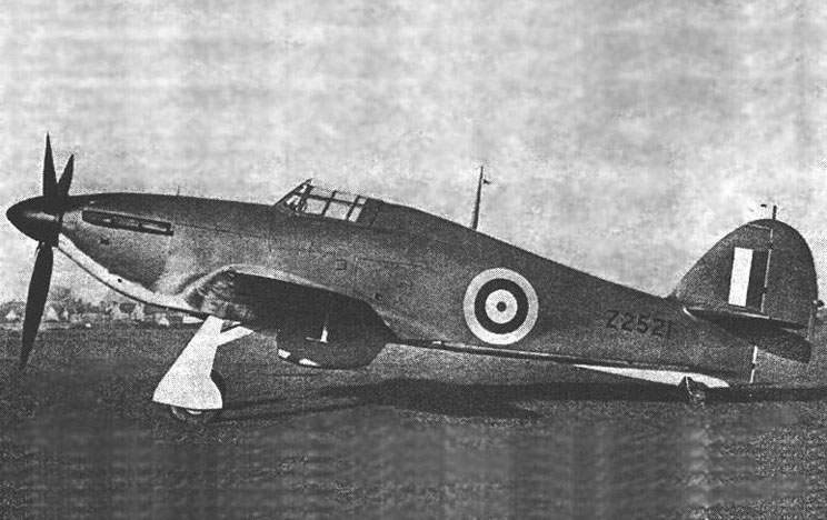 Hurricane Mk. IIA штурмовик КВВС