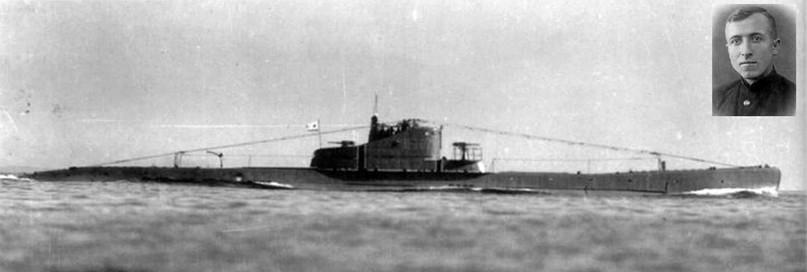 Подводная лодка «Щ-307» и ее командир Н.И. Петров.