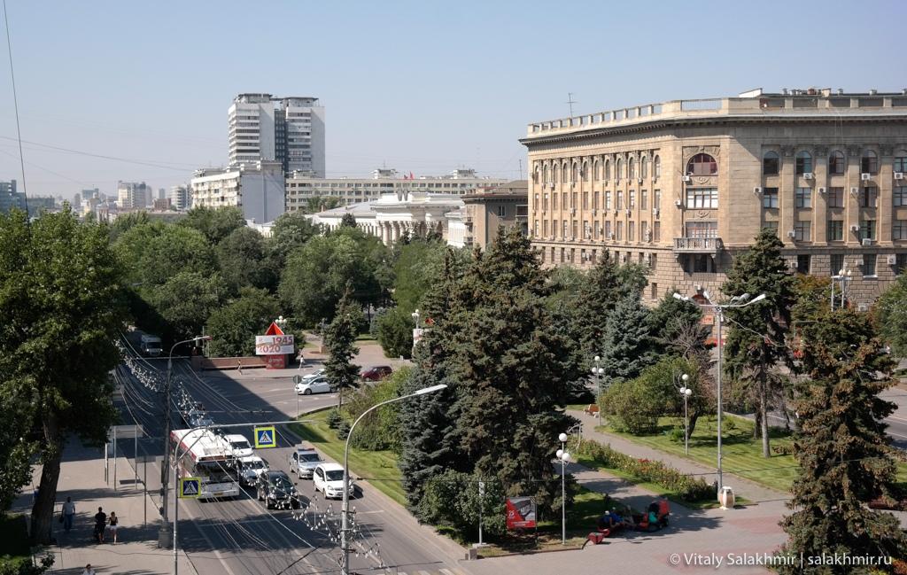 Проспект Ленина в Волгограде 2020