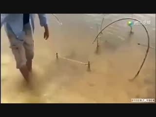 Интересный способ рыбачить
