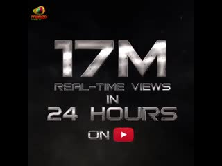 17 million realtime views on youtube in 24 hours for saahoteaser telugu