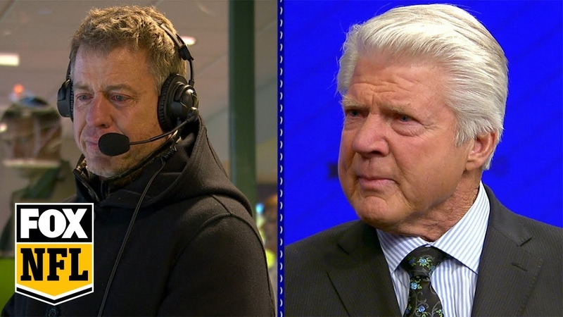 Jimmy Johnson Troy Aikman moved to tears at surprise HOF announcement FOX NFL
