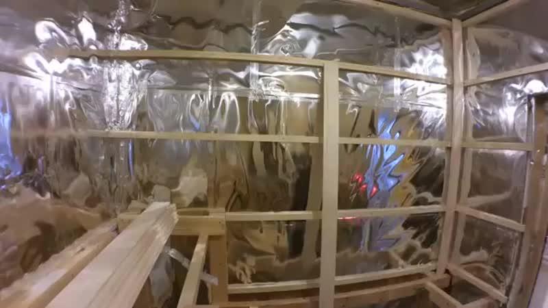 Чистовая отделка сауны вагонкой из липы своими руками mp4
