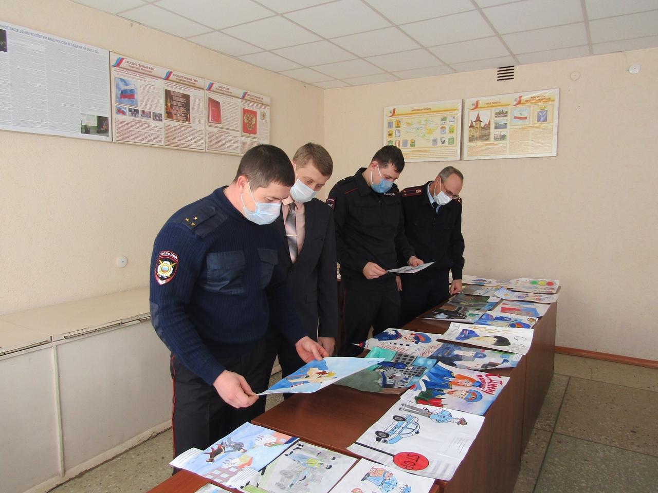 В Петровском отделе МВД подвели итоги районного этапа Всероссийского конкурса детского рисунка