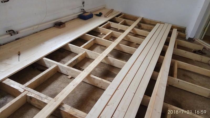 Шпунтованная доска укладка как прижать стянуть доски с помощью домкрата