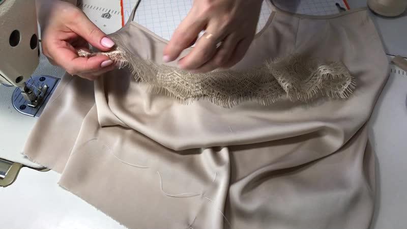 МК: Пошив шелковой майки. Часть 8