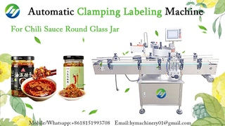 HYCL-150S High-accuracy Automatic Clamping Round Bottles Labeling Machine for Chili Sauce Glass Jar