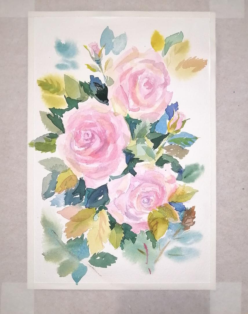 ОНЛАЙН-УРОК по рисованию «Дикая роза», изображение №11