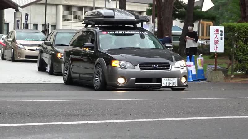 Modified Car Meet in Nagano Cars Leaving ¦ FIXWELL 2020 搬出② フィックスウェル