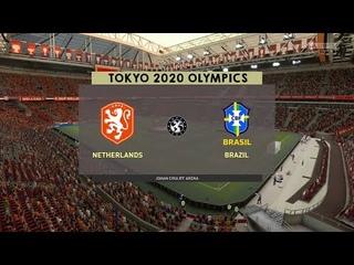 ⚽ Netherlands Women vs Brazil Women ⚽ | Tokyo 2020 Olympics (24/07/2021) | Fifa 21