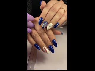 Зимние дизайны ногтей на ручках моих клиентов