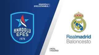 Anadolu Efes Istanbul - Real Madrid Highlights |Turkish Airlines EuroLeague, PO Game 1