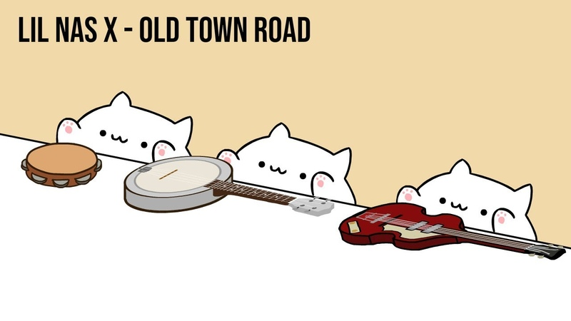 Bongo Cat Lil Nas X Old Town Road Cat Cover