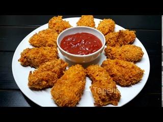 КУРИНЫЕ НАГГЕТСЫ КАК В KFC. Наггетсы в чипсах в духовке (Chicken Nuggets in the oven). Очень вкусно