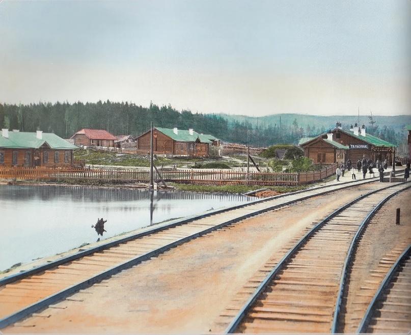Первозданная железнодорожная Россия в цвете эпохи царской Империи глазами неизвестного фотографа, изображение №17