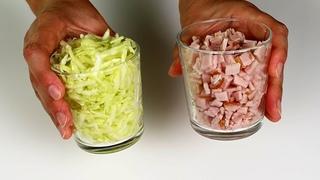 Вот как нужно готовить КАБАЧКИ! Завтрак и обед за 10 минут! Всего стакан мяса и кабачков!
