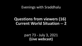 Вечерние беседы с Шраддхалу, часть 73: Текущая ситуация в мире ч2, 2020-2021 (с русскими субтитрами)