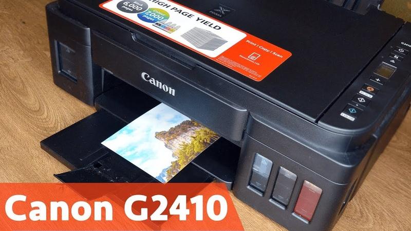 Обзор Canon PIXMA G2410 Заправка подключение и тестирование МФУ
