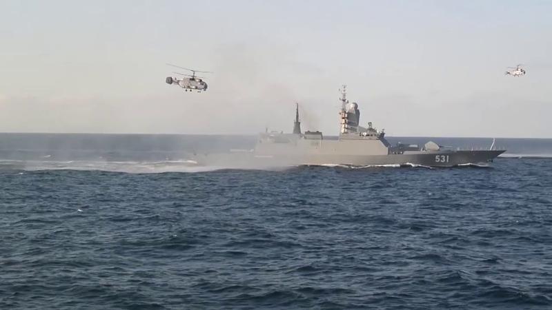 Корветы в бою Класс СТЕРЕГУЩИЙ Проекта 20380 Балтийский флот