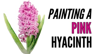 How To Paint A Hyacinth With Inktense In Pink