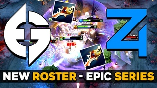 EG NEW ROSTER FIRST OFFICIAL MATCH with iceiceice - SUPER EPIC Series vs 4 Zoomers - NA DPC 2021