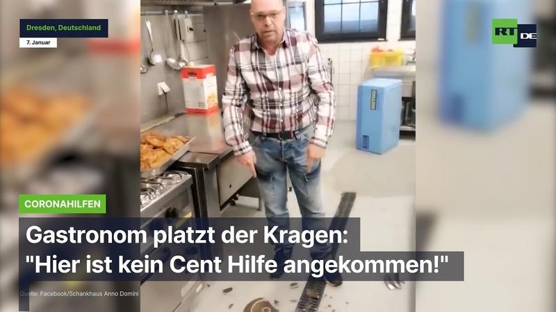 Dresdner Gastronom platzt der Kragen Hier ist kein Cent Hilfe angekommen