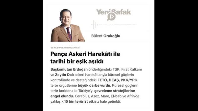 Bülent Orakoğlu Pençe Askeri Harekâtı ile tarihi bir eşik aşıldı 03 06 2019